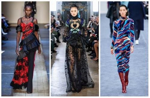 Модные сочетания красного, синего и черного черного цвета 2020 года