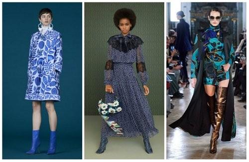 Модный серый и синий цвета 2020